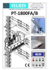 uus fassaaditõstuk PT ALBA 1800FA/B